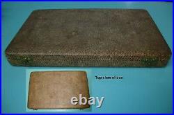 12pc Circa 1905 Chinese Export Sterling Silver HC Hung Chong Knife fork box set
