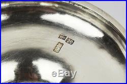 155 Grams Wang Hing Antique Chinese Export Sterling Silver Tazza Bowl Box