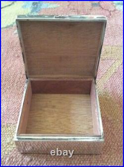 1920s Chinese Cedar Lined Silver Box