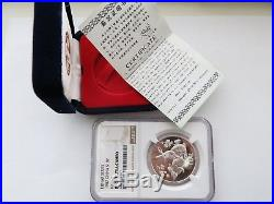 1987 15 g Lunar Silver Rabbit NGC PF69 Ultra Cameo Chinese Coin Box and COA