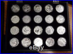 1989-2017 Chinese Silver Panda Set in Airtites with Boxes