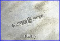 19th C Antique Chinese Export Silver Jardiniere Sign Luen Wo Shanghai