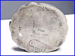 19th C Qing Ching Dynasty Chinese Sterling Silver Moth Box- SIGNED