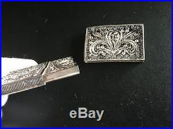 19th Century China Chinese Silver Filigree Export Case Box