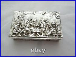 19th Century Chinese Export Silver Hinged box
