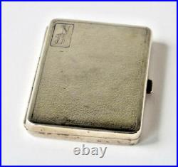 19th Century Chinese Yu Chang Shanghai Solid Silver Card Case Box With Hallmark