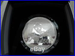 2014 5 oz Chinese Proof Silver Panda Box & CAO. 999 Silver