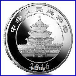 2016 150 gram Chinese Silver Panda 50 Yuan. 999 Fine Proof (withBox & COA)