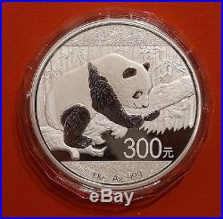 2016 year Chinese 1kg Silver Panda Coins 300yuan Certificate + box