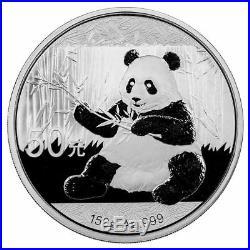 2017 150 gram (5 oz) Chinese Silver Panda 50 Yuan. 999 Fine Proof (withBox & COA)
