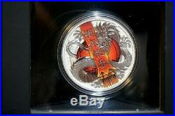 2017 Australia Chinese New Year 1oz Silver Coin Perth Mint Dragon with Box & COA