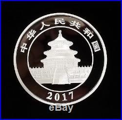 2017 Chinese Panda Commemorative Coin, 50 Yuan, 150 Grams! Case, Box, and COA