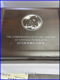 2019 1 Kilo 1000g Silver Panda Chinese Coins with Box and Paperwork Mint Coin