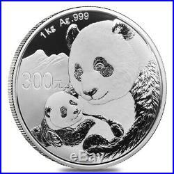 2019 1 kilo Chinese Silver Panda 300 Yuan. 999 Fine Proof (withBox & COA)