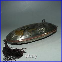 8.2 old Chinese dynasty Tibetan Silver gilt Matsushita old man glasses box