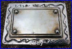 A Chinese Export Silver Tray Mark Of Guang Ji, Hong Kong, Circa 1890-1920 Rare