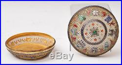 A Rare Antique Chinese Gilt Silver Enameled Covered Box