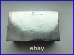 A Silver And Hardstone Black Stark & Frost Cigarette Box Chinese Belt Hook