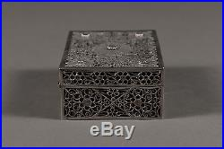 A Vintage Hand Made Chinese Sterling Silver Filigree Box Circa 1960