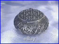 Antique Chinese Export Silver Box Circa 1900