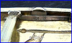 Antique Chinese Export Silver Cigarette Case'dragon's Gate & Carp Fish