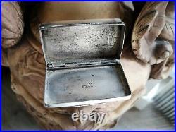 Alte Silber Tabatiere Schnupftabakdose 1840 KHC chinese silver snuff box 19. Th
