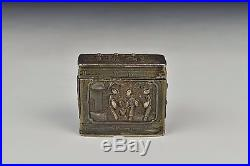 Antique 18th / 19th Century Signed Chinese Export Silver Opium Box