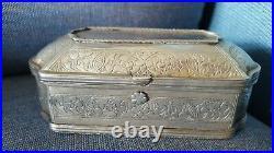 Antique 1900 Peranakan Silver Sireh Betel Box Straits Chinese