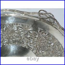 Antique 19th Rare Original Bowl chinese silver HUNG CHONG & CO with original box