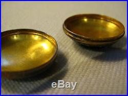 Antique Chinese Carved Jade Brid Gold Washed Sterling Silver Enamel Trinket Box