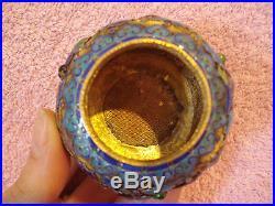 Antique Chinese Enamel Silver Small Jar Box