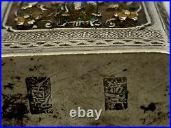 Antique Chinese Enamel on Silver Snuff Opium Box Signed