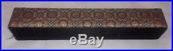 Antique Chinese Export Filigree Silver & Enamel Cabochon Jade Bracelet Orig Box