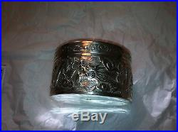 Antique Chinese Export Luen Hung Sterling Silver Dragon Box c. 1910 148.5 grams