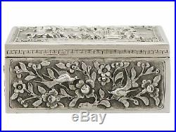 Antique Chinese Export Silver Box 1850-1899