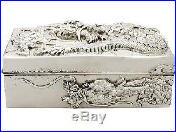 Antique Chinese Export Silver Box by Kuhn & Kormor Circa 1900