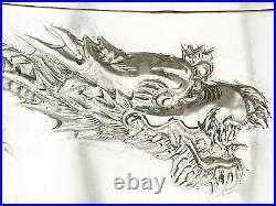 Antique Chinese Export Silver Box by Wang Hing, Hong Kong, 1890s