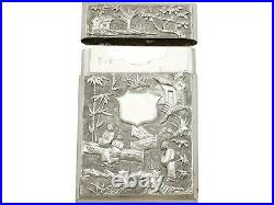 Antique Chinese Export Silver Card Case Circa 1870