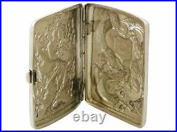 Antique Chinese Export Silver Cigarette / Card Case