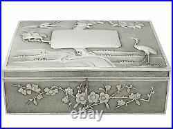 Antique Chinese Export Silver Locking Box Circa 1890