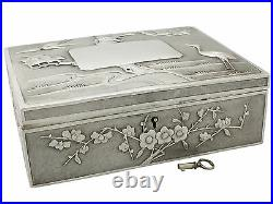 Antique Chinese Export Silver Locking Box by Heng Li