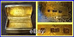 Antique Chinese Export Silver Snuff Box Signed MK (4746)