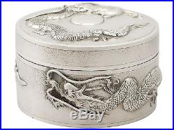 Antique Chinese Export Sterling Silver Box 1850-1899