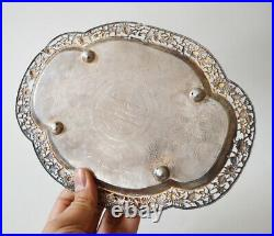Antique Chinese Export Sterling Silver Dish And Bottle China