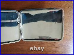 Antique Chinese Hung Chong HC Sterling Silver Cigarette Case Card Box 122g