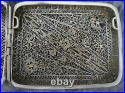 Antique Chinese Or Russian Siver Filigree Case c1900