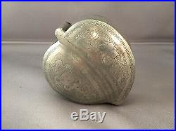 Antique Chinese Pewter Peach-shaped Opium Box