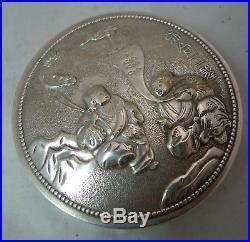 Antique Chinese Silver Box 69g 8cm x 3.2cm A602017