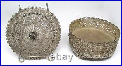 Antique Chinese  Silver Filigree Covered Box Stephan Oriental Arts, Syria
