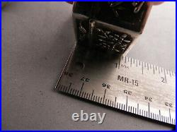 Antique Chinese Silver Hexagonal Snuff Box, Pill Case, Sgnd, C1900